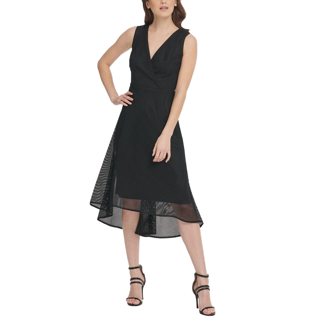 DKNY Black Mesh Midi Dress Size 8 Muse Boutique Outlet | Shop Designer Dresses on Sale | Up to 90% Off Designer Fashion