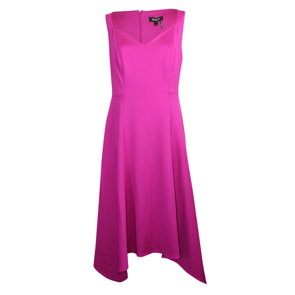 DKNY Purple Scuba Sweetheart Neck Dress Size 12 Muse Boutique Outlet | Shop Designer Dresses on Sale | Up to 90% Off Designer Fashion