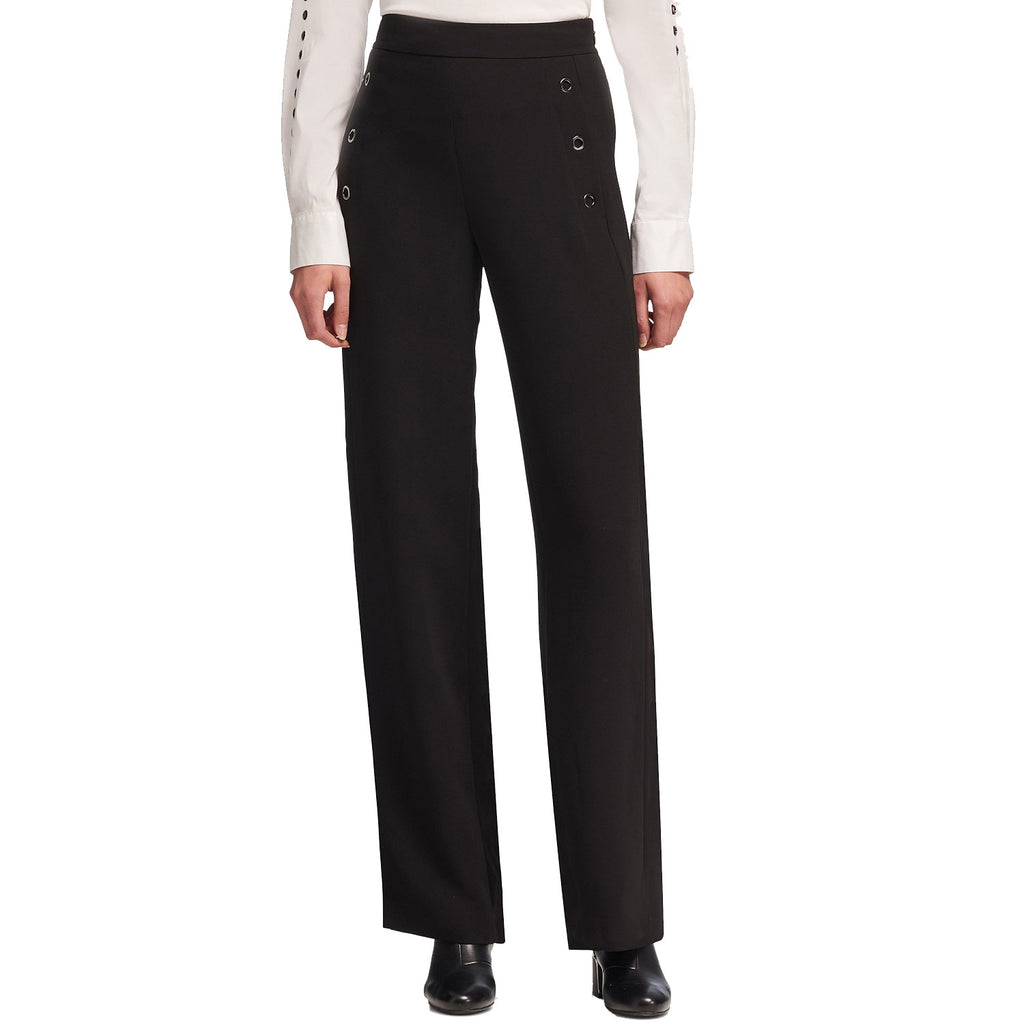 DKNY Black Grommet-Trim Sailor Pants Size 8 Muse Boutique Outlet | Shop Designer Clearance Bottoms on Sale | Up to 90% Off Designer Fashion