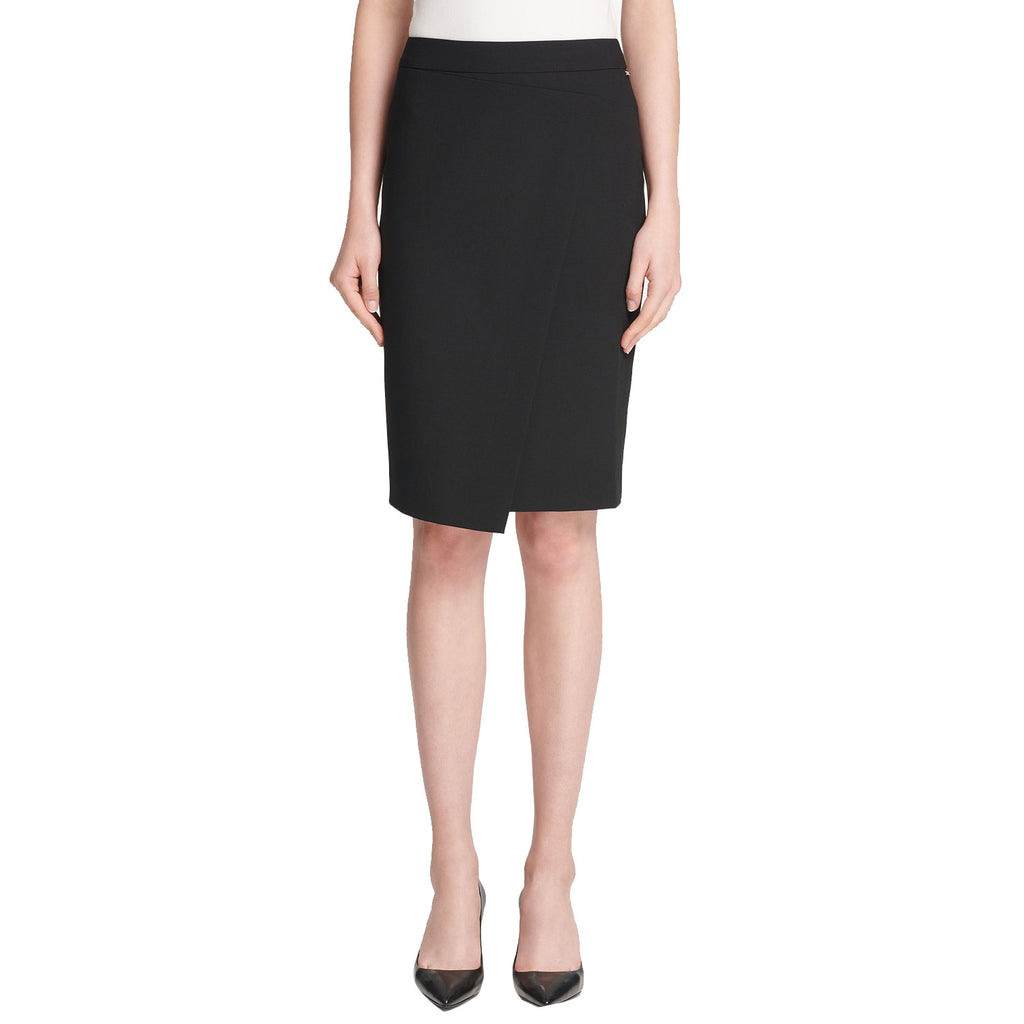 DKNY Black Asymmetrical Crossover Skirt Size 2 Muse Boutique Outlet | Shop Designer Clearance Skirts on Sale | Up to 90% Off Designer Fashion