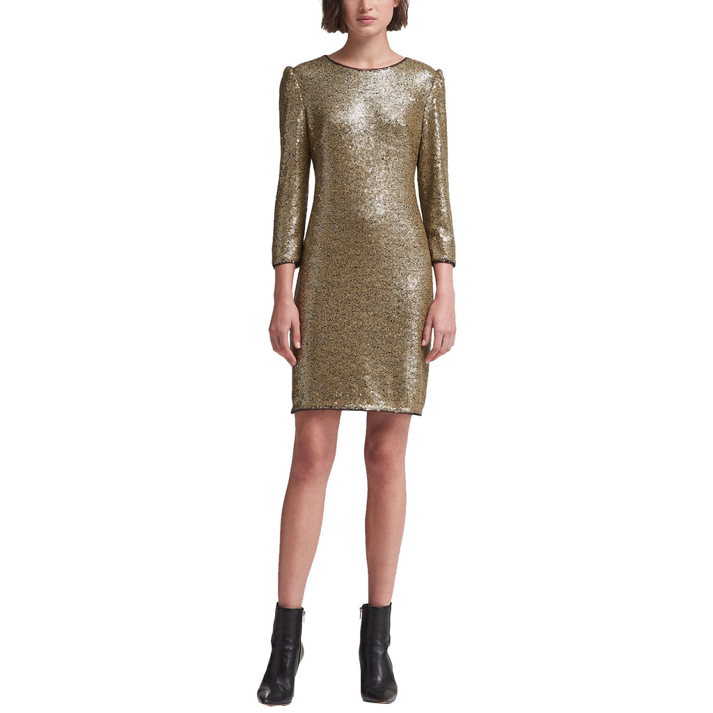 DKNY Gold Long Sleeve Sequin Dress Size 16 Muse Boutique Outlet | Shop Designer Dresses on Sale | Up to 90% Off Designer Fashion