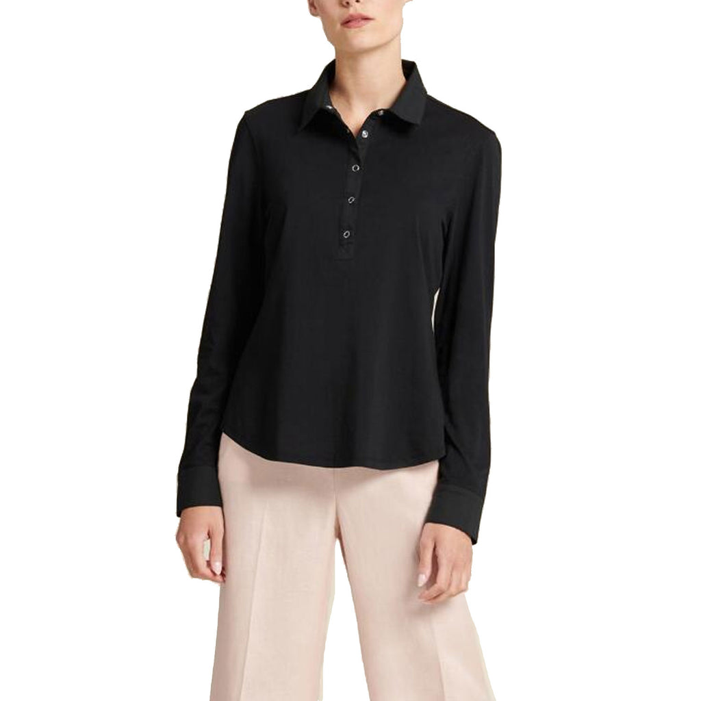 Donna Karan Black Long Sleeve Popover Shirt Size Large Muse Boutique Outlet | Shop Designer Clearance Tops on Sale | Up to 90% Off Designer Fashion