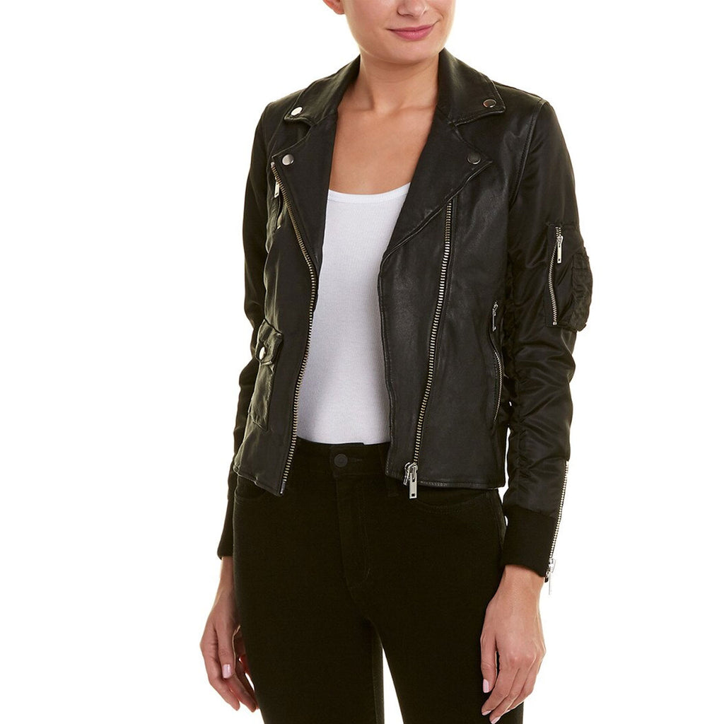 Doma Black Biker Jacket Size Extra Small Muse Boutique Outlet | Shop Designer Outerwear on Sale | Up to 90% Off Designer Fashion