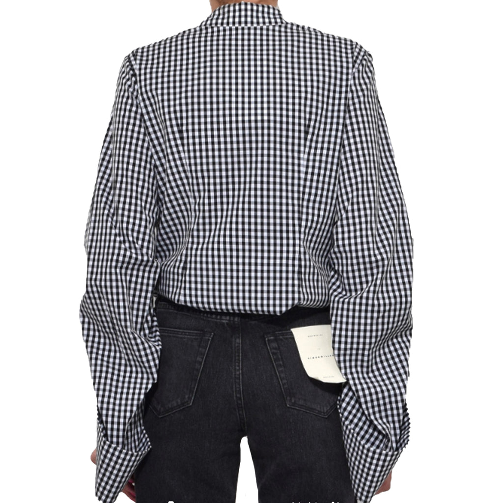 Dorothee Schumacher  Gingham Print Button Down Blouse Size  Muse Boutique Outlet | Shop Designer Blouses on Sale | Up to 90% Off Designer Fashion