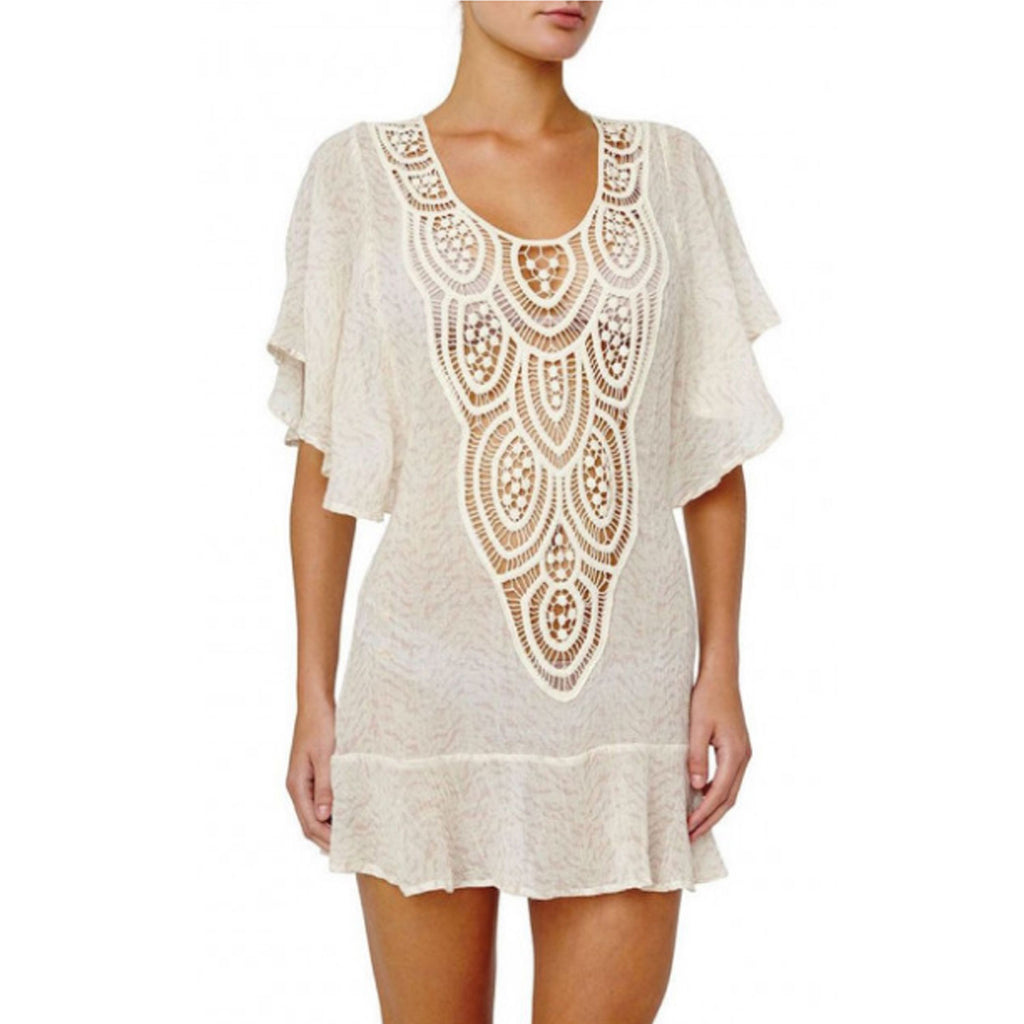 Eberjey Quartz Melina Crochet Flutter Coverup Size Small/Medium Muse Boutique Outlet | Shop Designer Swimwear on Sale | Up to 90% Off Designer Fashion