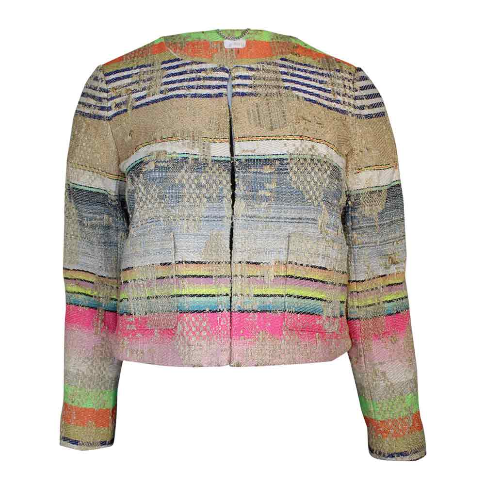 Ecru Multicolored Multi Colored Tweed Jacket Size Extra Large Muse Boutique Outlet | Shop Designer Blazers on Sale | Up to 90% Off Designer Fashion
