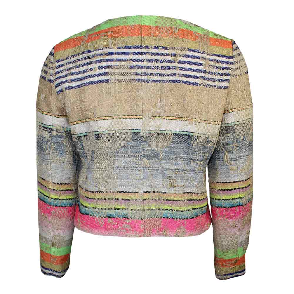 Ecru  Multi Colored Tweed Jacket Size  Muse Boutique Outlet | Shop Designer Blazers on Sale | Up to 90% Off Designer Fashion