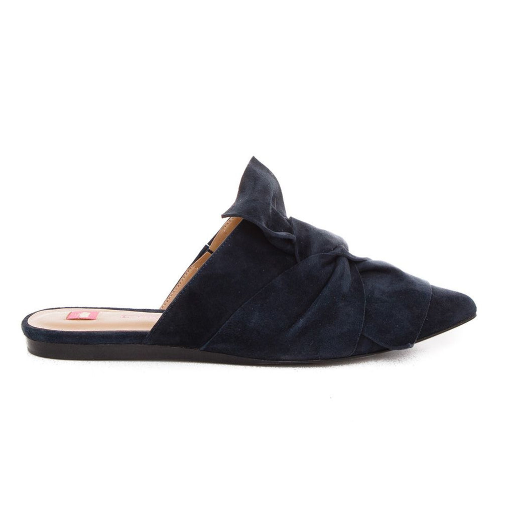 Elaine Turner Navy Trina Suede Slides Size 6 Muse Boutique Outlet | Shop Designer Flats on Sale | Up to 90% Off Designer Fashion