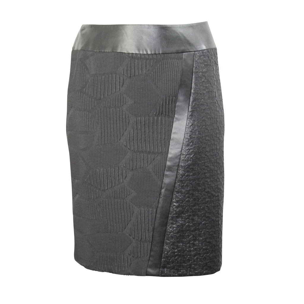 Elena Miro Black Asymmetrical Textured Skirt Plus Size Size 16 Muse Boutique Outlet | Shop Designer Skirts on Sale | Up to 90% Off Designer Fashion