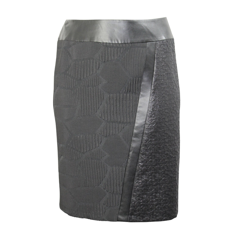 Elena Miro Black Asymmetrical Textured Skirt Plus Size Size 16 Muse Boutique Outlet | Shop Designer Clearance Skirts on Sale | Up to 90% Off Designer Fashion