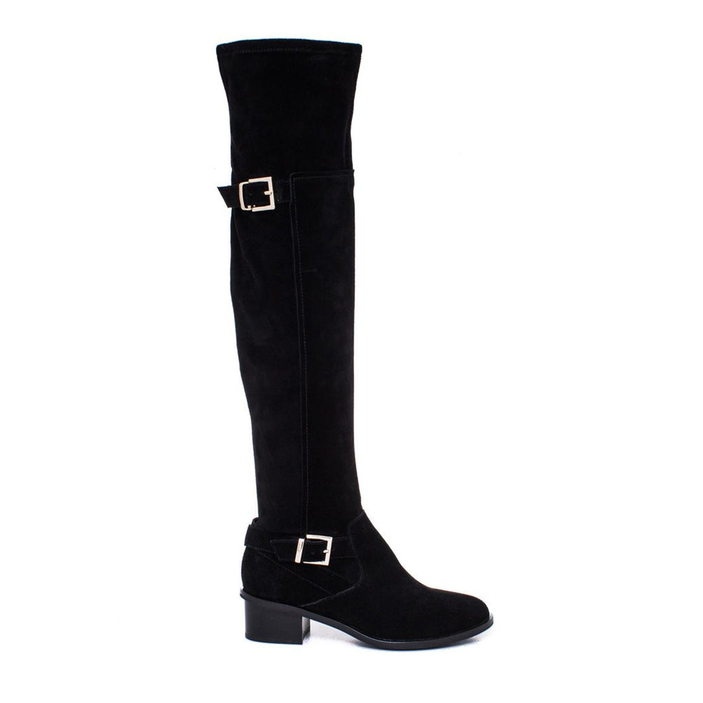 Elaine Turner Calley Suede Boot 6 Black Muse Boutique Outlet