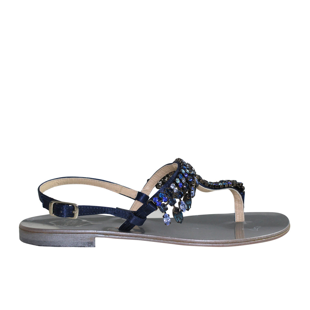 Emanuela Caruso Capri Blue Charms Blu Sandal Size 36 Muse Boutique Outlet | Shop Designer Sandals on Sale | Up to 90% Off Designer Fashion