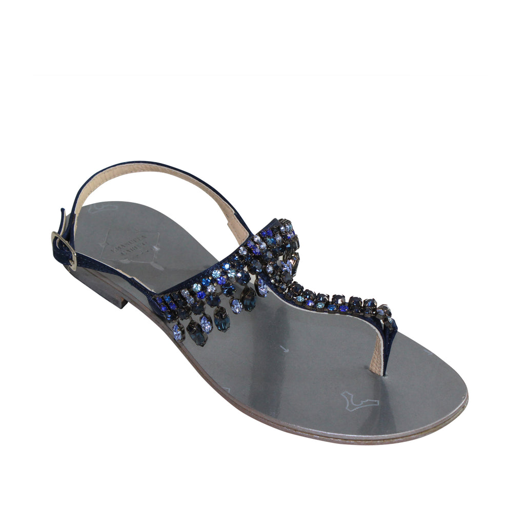Emanuela Caruso Capri  Charms Blu Sandal Size  Muse Boutique Outlet | Shop Designer Sandals on Sale | Up to 90% Off Designer Fashion