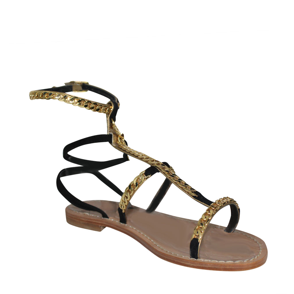 Emanuela Caruso Capri  Catena Gold Chain Sandal Size  Muse Boutique Outlet | Shop Designer Sandals on Sale | Up to 90% Off Designer Fashion