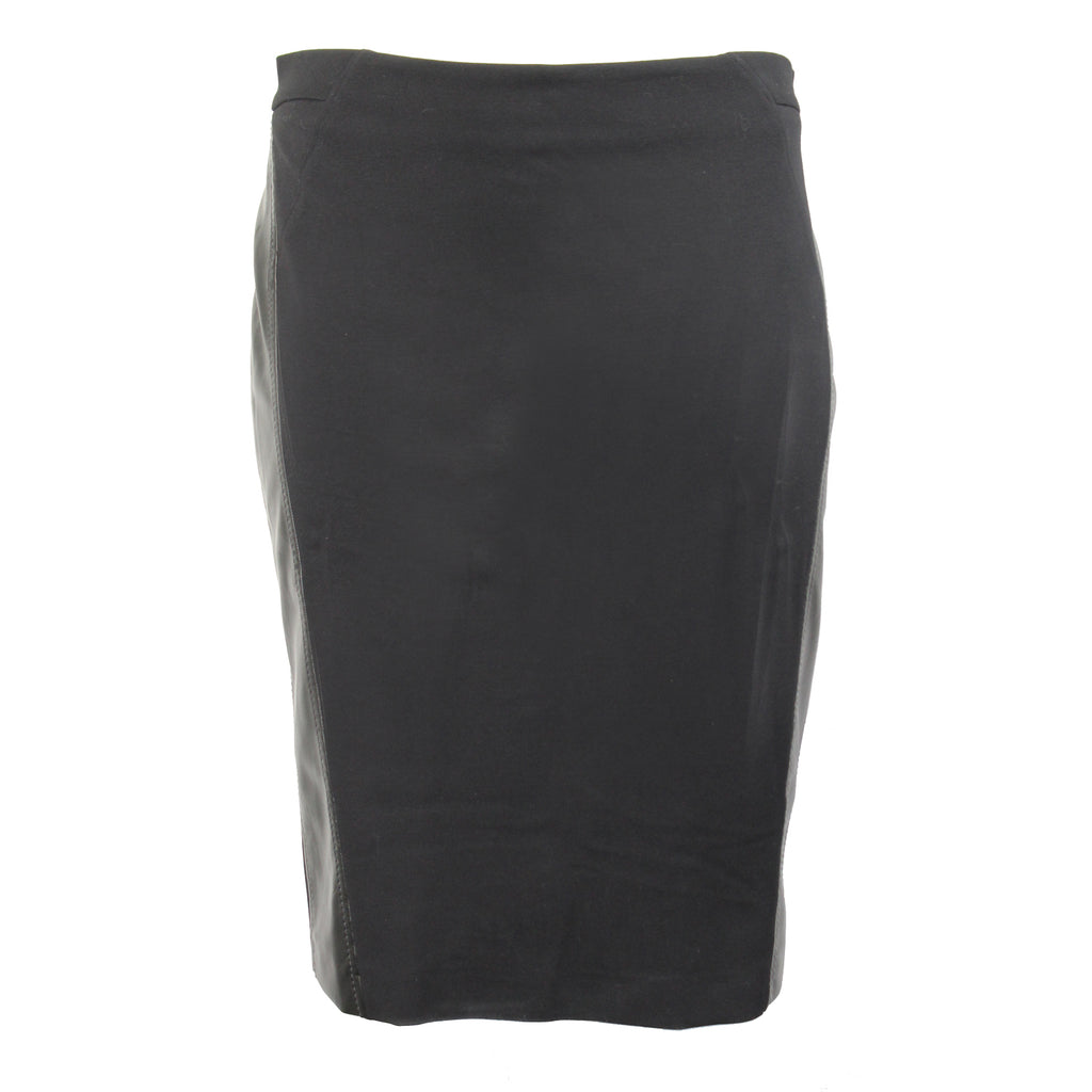 Elena Miro Black Leather Side Seam Pencil Skirt Plus Size Size 16 Muse Boutique Outlet | Shop Designer Plus Size Skirts on Sale | Up to 90% Off Designer Fashion