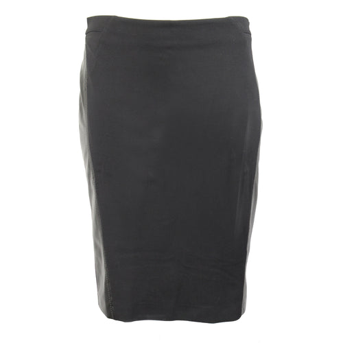 Elena Miro Leather Side Seam Pencil Skirt Plus Size 14 Black Muse Boutique Outlet