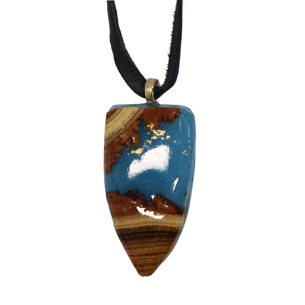 Enchanted Woods Wearables  Leather Stone Necklace Size  Muse Boutique Outlet | Shop Designer Necklaces on Sale | Up to 90% Off Designer Fashion