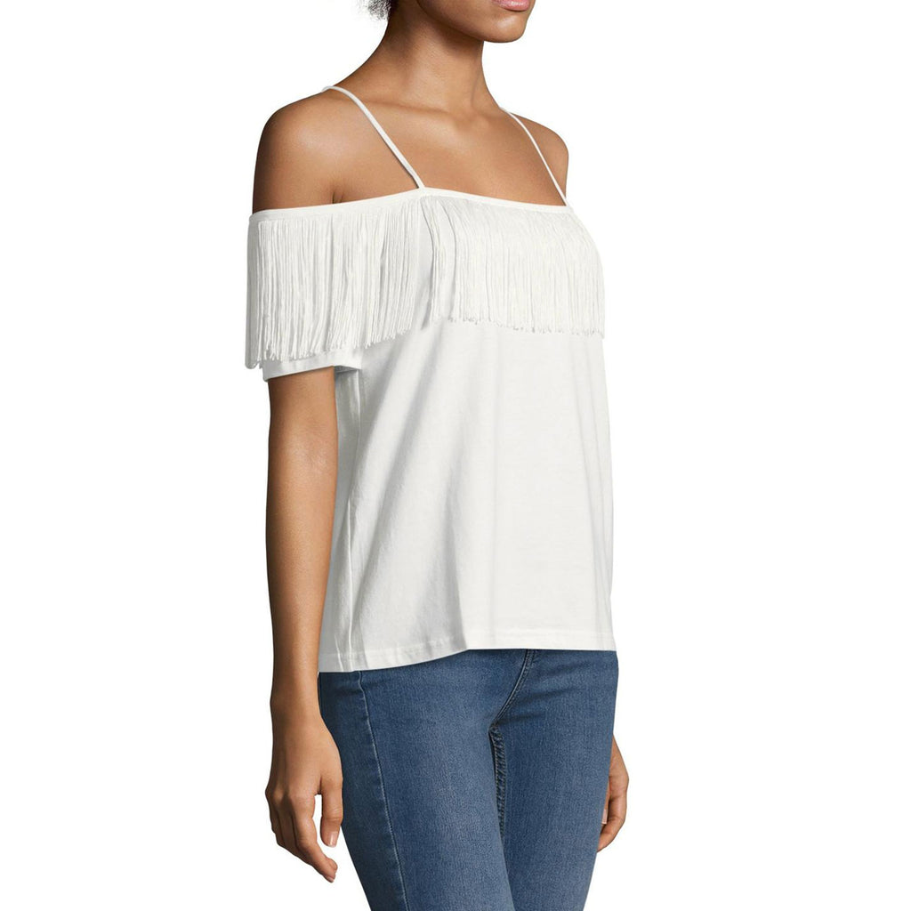Endless Rose  Fringe Off the Shoulder Top Size  Muse Boutique Outlet | Shop Designer Clearance Tops on Sale | Up to 90% Off Designer Fashion