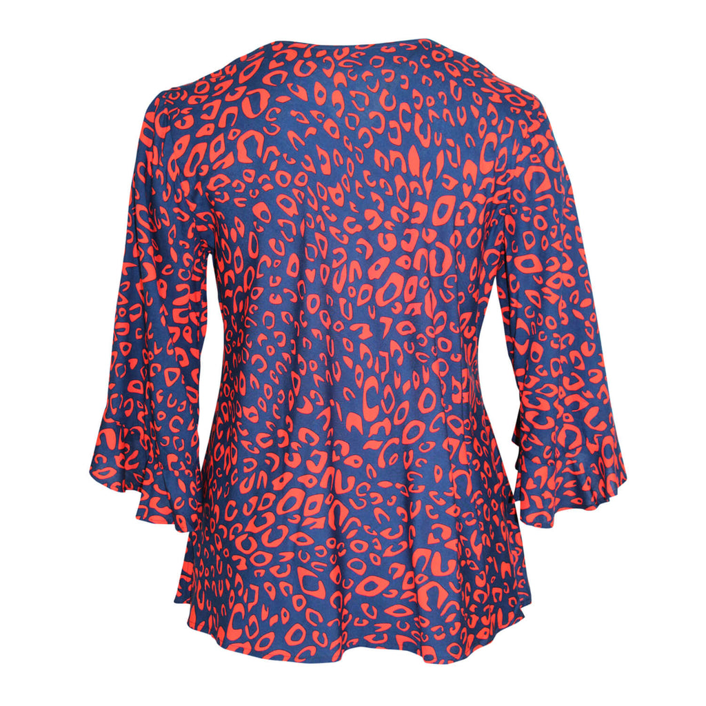 Escapada Living  Printed Boat Neck Top Size  Muse Boutique Outlet | Shop Designer Three Quarter Sleeve Tops on Sale | Up to 90% Off Designer Fashion