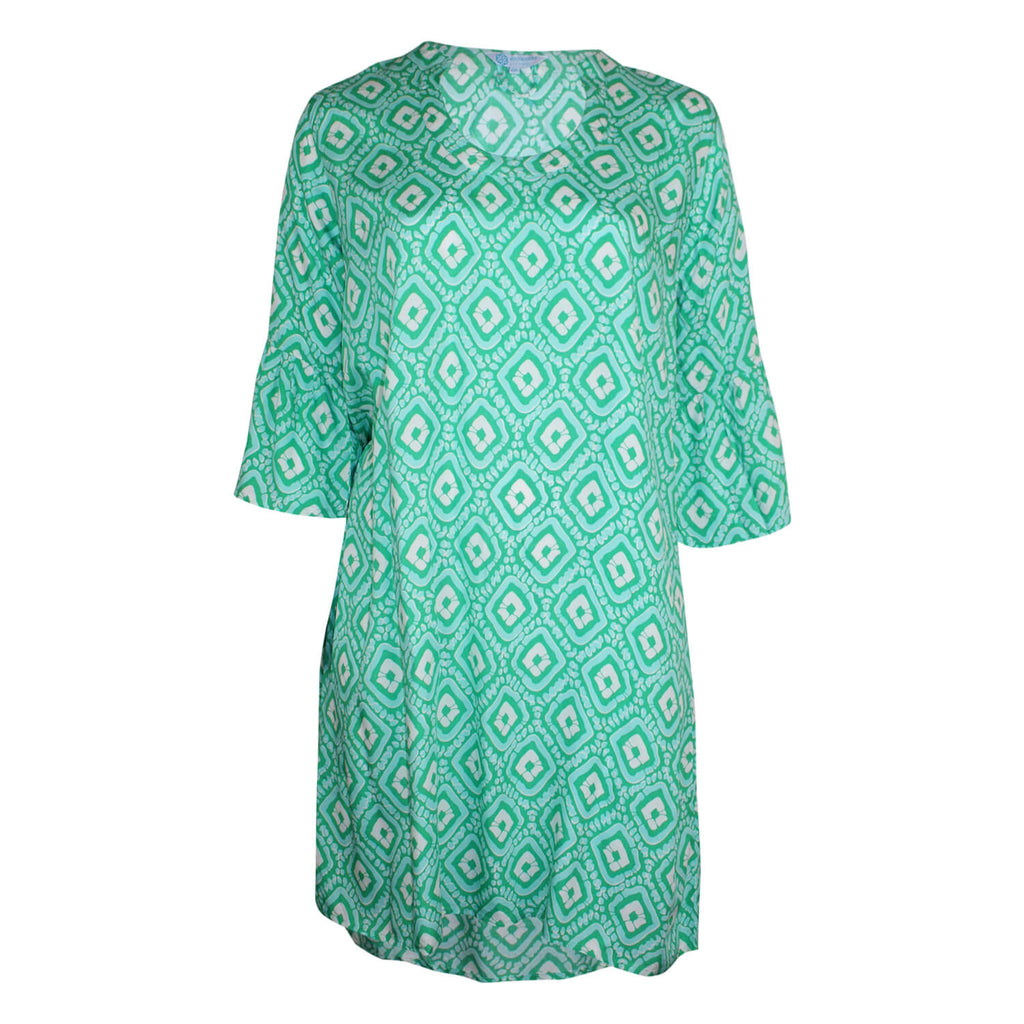 Escapada Living Shamrock/Aqua Santiago Charleston Tunic Dress Size 0X Muse Boutique Outlet | Shop Designer Plus Size Dresses on Sale | Up to 90% Off Designer Fashion