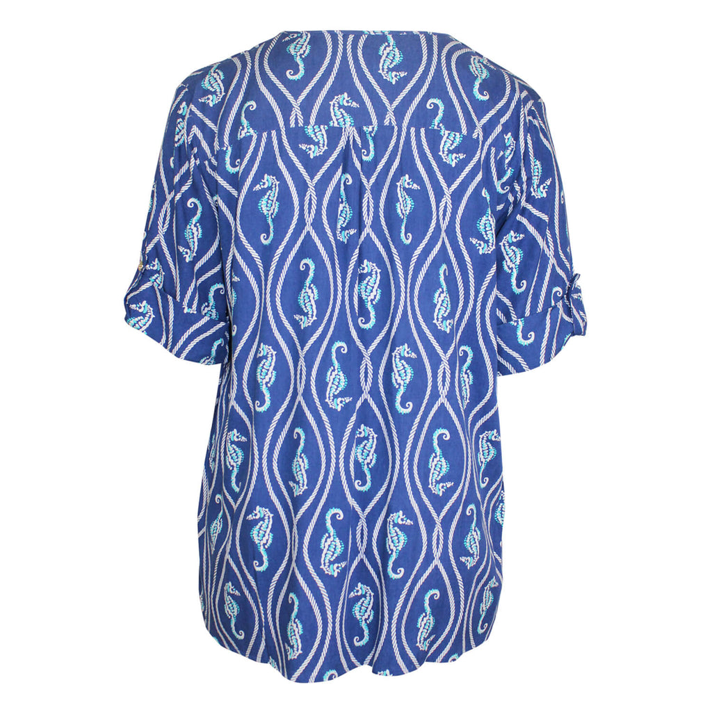 Escapada Living  Printed Wrap Hem Top Size  Muse Boutique Outlet | Shop Designer Plus Size Tops on Sale | Up to 90% Off Designer Fashion