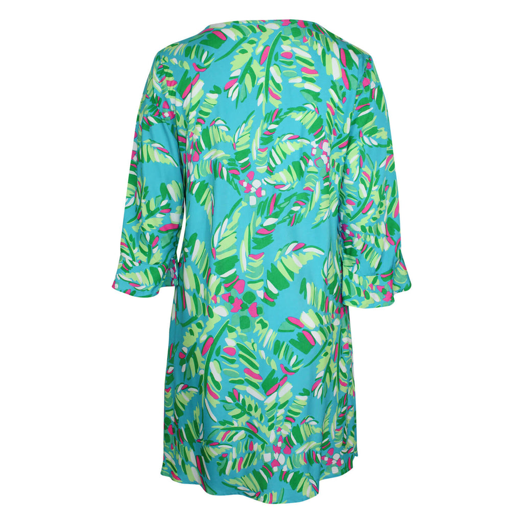 Escapada Living  Printed 3/4 Sleeve Ruffle Dress Size  Muse Boutique Outlet | Shop Designer Plus Size Dresses on Sale | Up to 90% Off Designer Fashion
