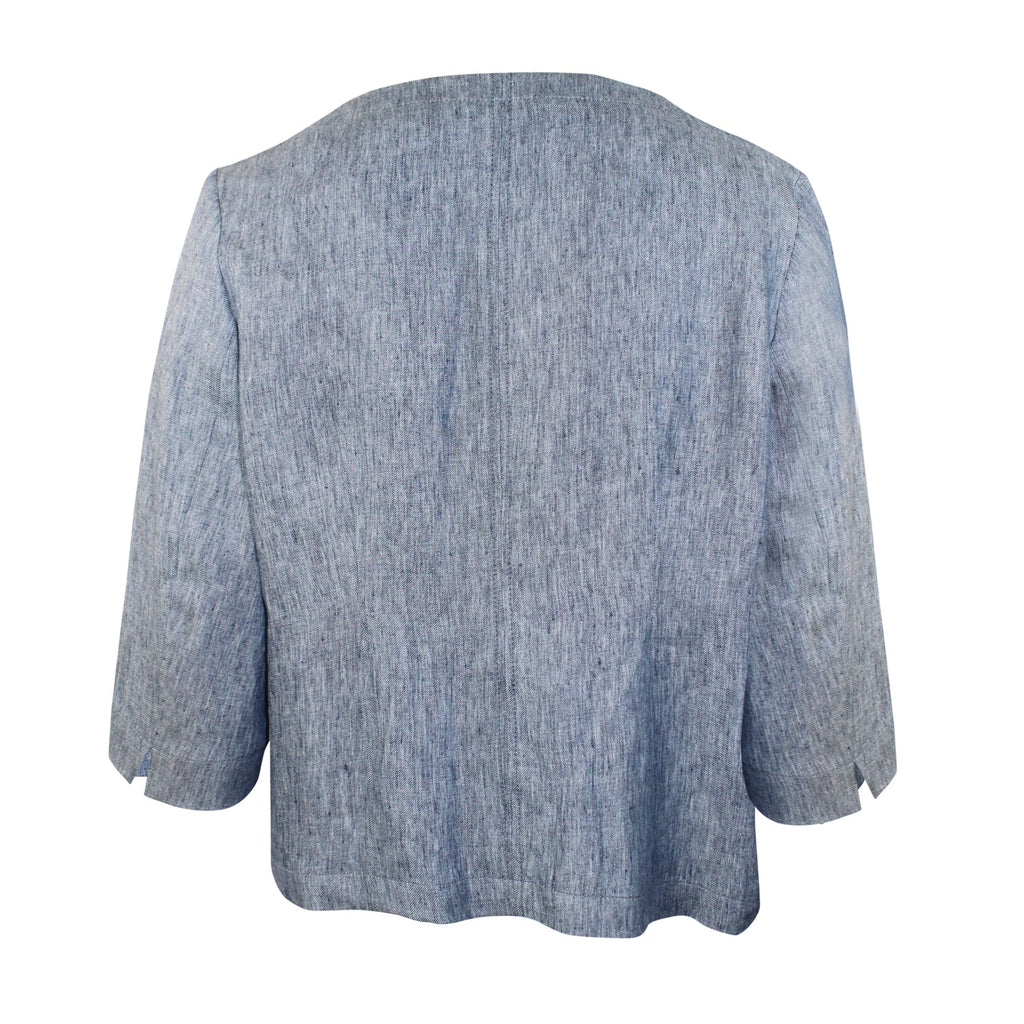 Evelin Brandt Berlin Chambray Jacket Plus Size   Muse Boutique Outlet