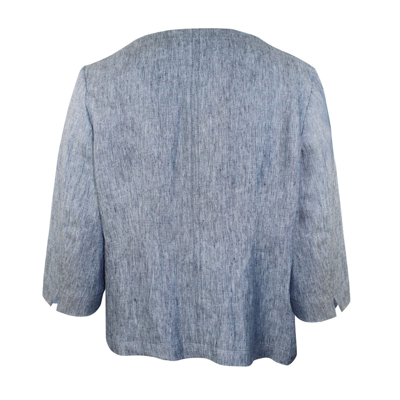 Evelin Brandt Berlin  Chambray Jacket Plus Size Size  Muse Boutique Outlet | Shop Designer Clearance Outerwear on Sale | Up to 90% Off Designer Fashion