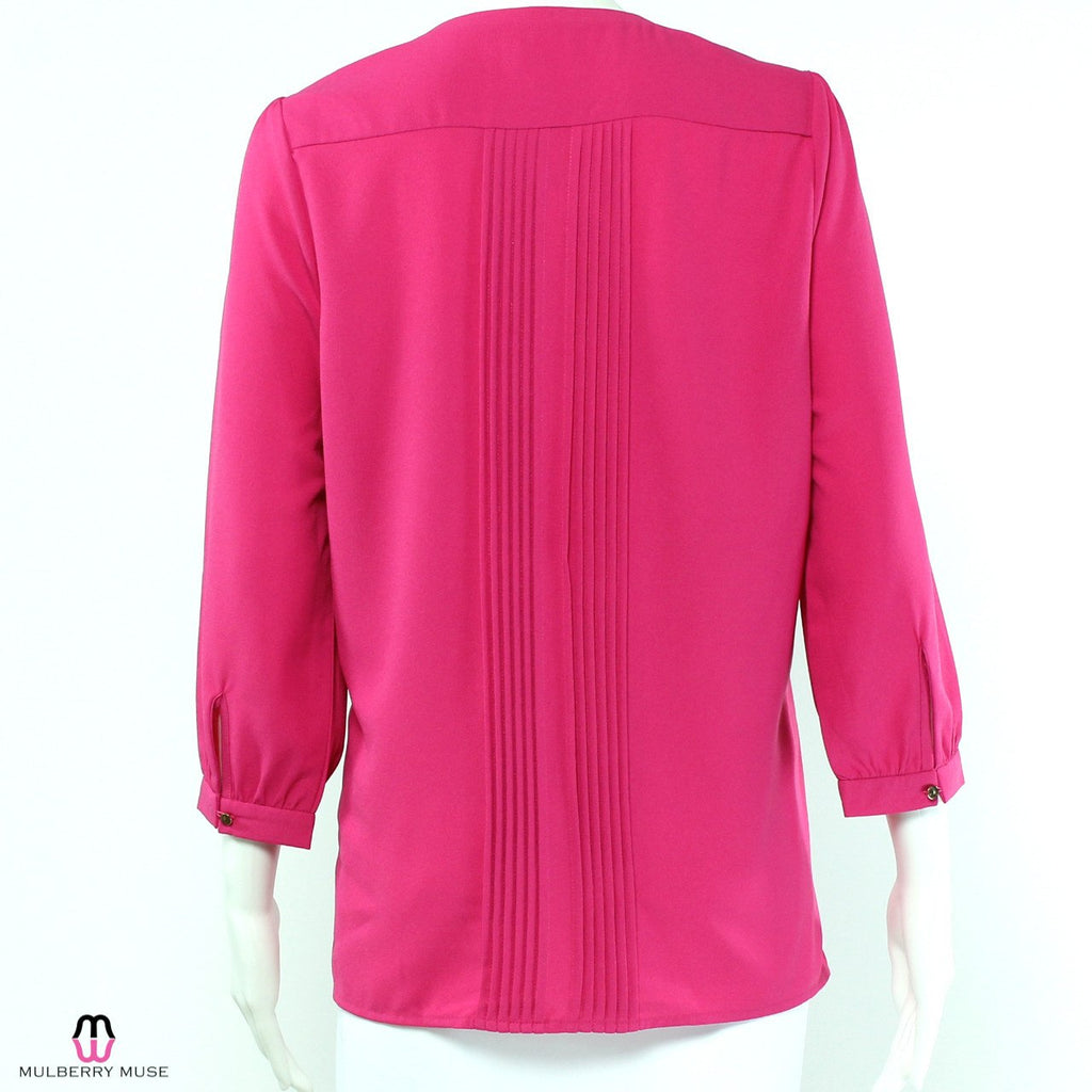 Everly  Everly Pleated Blouse Size  Muse Boutique Outlet | Shop Designer Clearance Tops on Sale | Up to 90% Off Designer Fashion