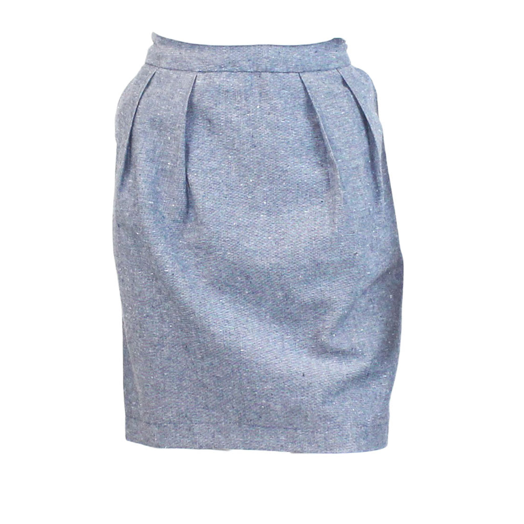Ezra Indigo Ezra Indigo Chambray Skirt Size Large Muse Boutique Outlet | Shop Designer Clearance Skirts on Sale | Up to 90% Off Designer Fashion