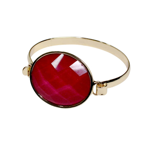 Private Label Faceted Stone Bracelet OSFA Magenta Muse Boutique Outlet