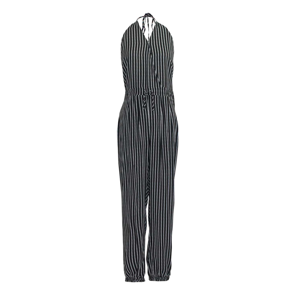 Favlux Black / White Stripe Halter Jumpsuit Size Large Muse Boutique Outlet | Shop Designer Clearance Bottoms on Sale | Up to 90% Off Designer Fashion