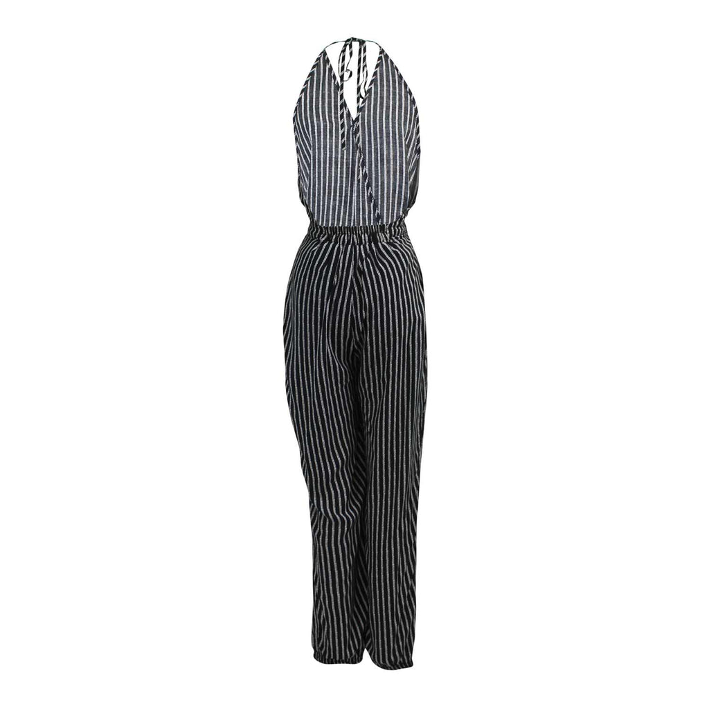 Favlux  Stripe Halter Jumpsuit Size  Muse Boutique Outlet | Shop Designer Clearance Bottoms on Sale | Up to 90% Off Designer Fashion