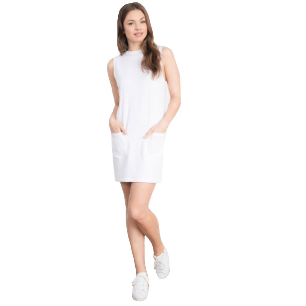 Feel the Piece White Margo Patch Pocket Dress Size XS/S Muse Boutique Outlet | Shop Designer Clearance Dresses on Sale | Up to 90% Off Designer Fashion