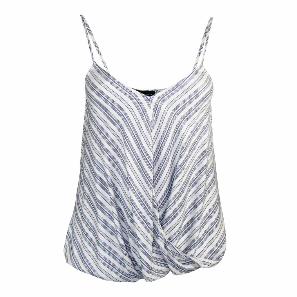 Fifteen Twenty Blue Stripe Striped Cross Front Tank Size L Muse Boutique Outlet | Shop Designer Sleeveless Tops on Sale | Up to 90% Off Designer Fashion