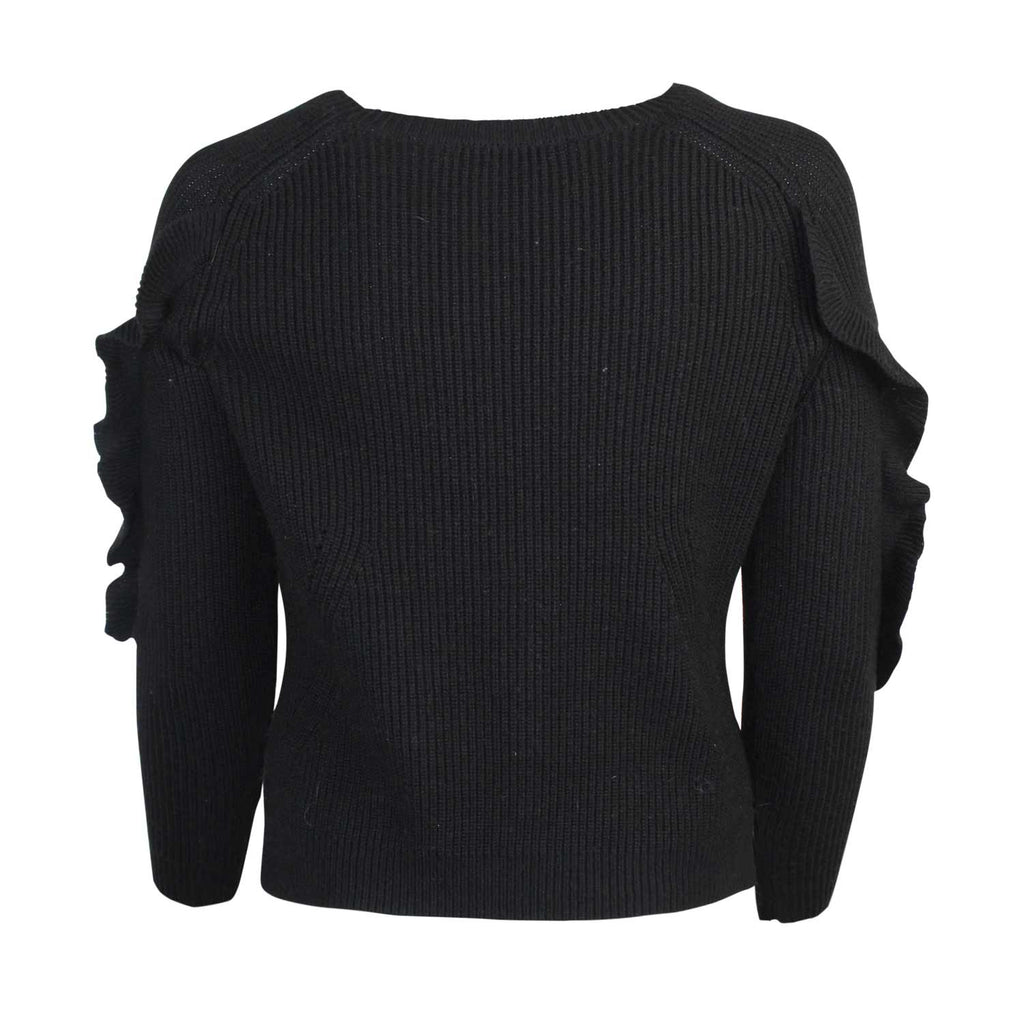 Floriane Fasso  Ruffle Sleeve Sweater Size  Muse Boutique Outlet | Shop Designer Sweaters on Sale | Up to 90% Off Designer Fashion
