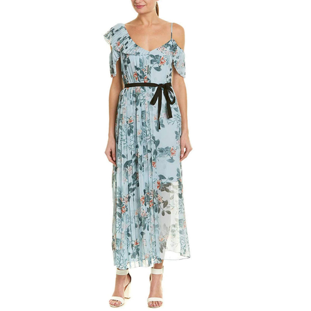 French Connection Blue Kioa Drape Strappy Maxi Dress Size 0 Muse Boutique Outlet | Shop Designer Dresses on Sale | Up to 90% Off Designer Fashion