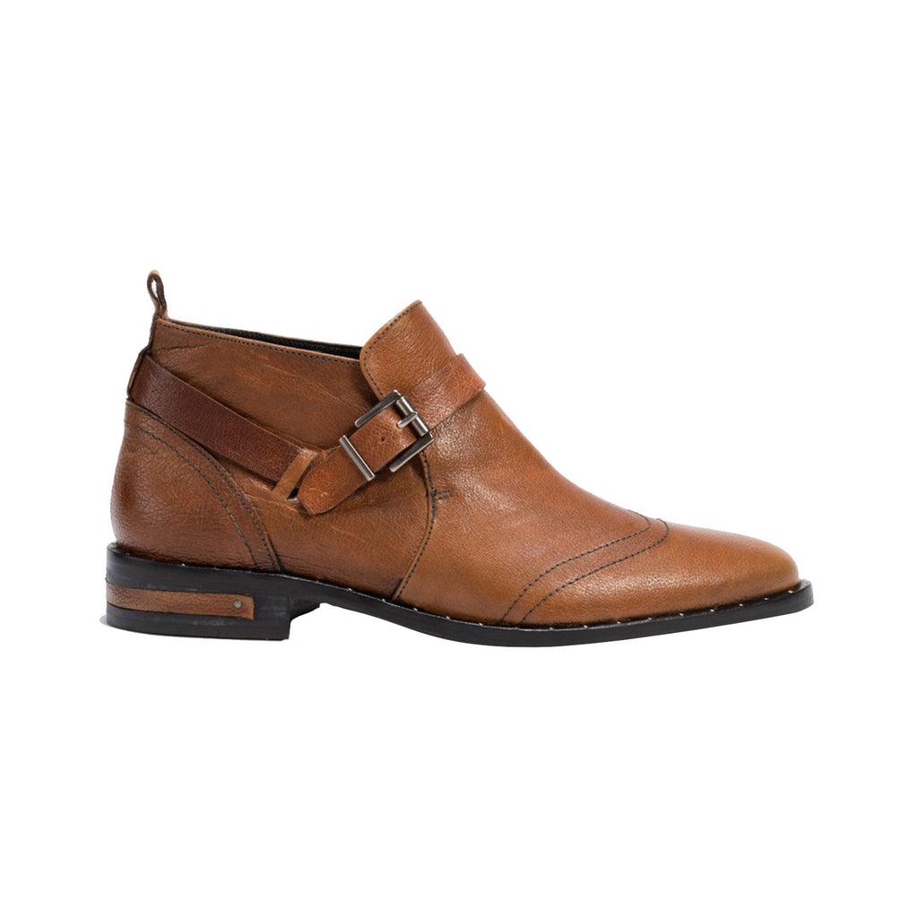 Freda Salvador Luggage Calf Western Man Ankle Boots Size 6 Muse Boutique Outlet | Shop Designer Boots on Sale | Up to 90% Off Designer Fashion