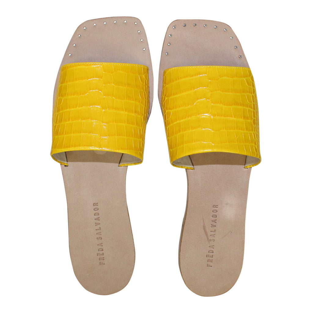 Freda Salvador Turmeric Jessa Slip On Sandal Size 7 Muse Boutique Outlet | Shop Designer Sandals on Sale | Up to 90% Off Designer Fashion