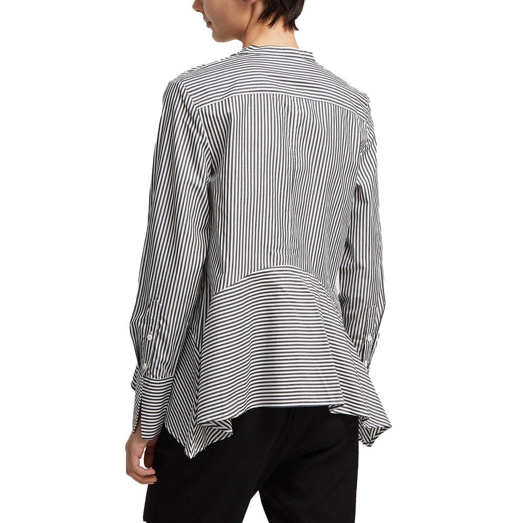 French Connection  Summer Stripe Tie Neck Shirt Size  Muse Boutique Outlet | Shop Designer Long Sleeve Tops on Sale | Up to 90% Off Designer Fashion