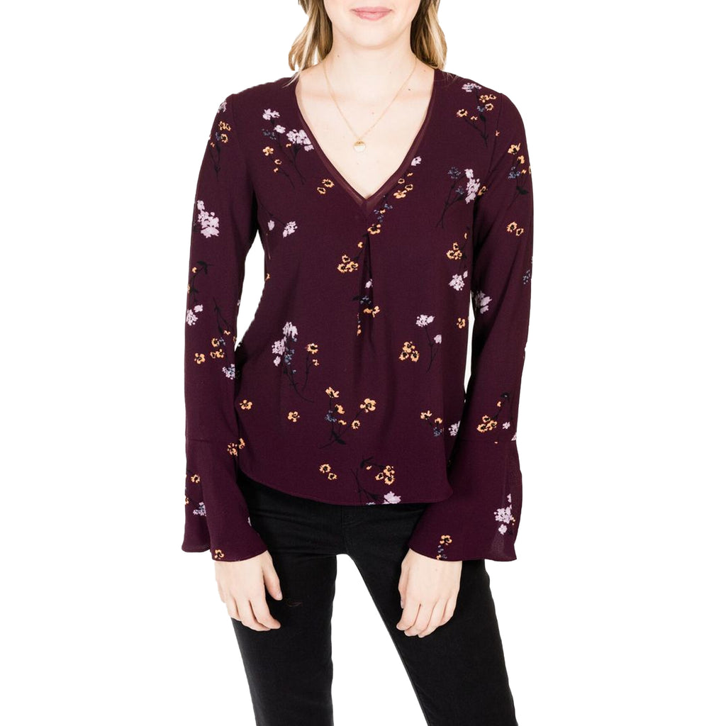 Gentle Fawn Revive Camden Floral Print Bell Sleeve Blouse Size Extra Small Muse Boutique Outlet | Shop Designer Clearance Tops on Sale | Up to 90% Off Designer Fashion