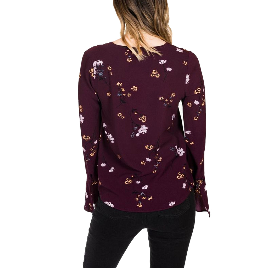 Gentle Fawn  Camden Floral Print Bell Sleeve Blouse Size  Muse Boutique Outlet | Shop Designer Clearance Tops on Sale | Up to 90% Off Designer Fashion