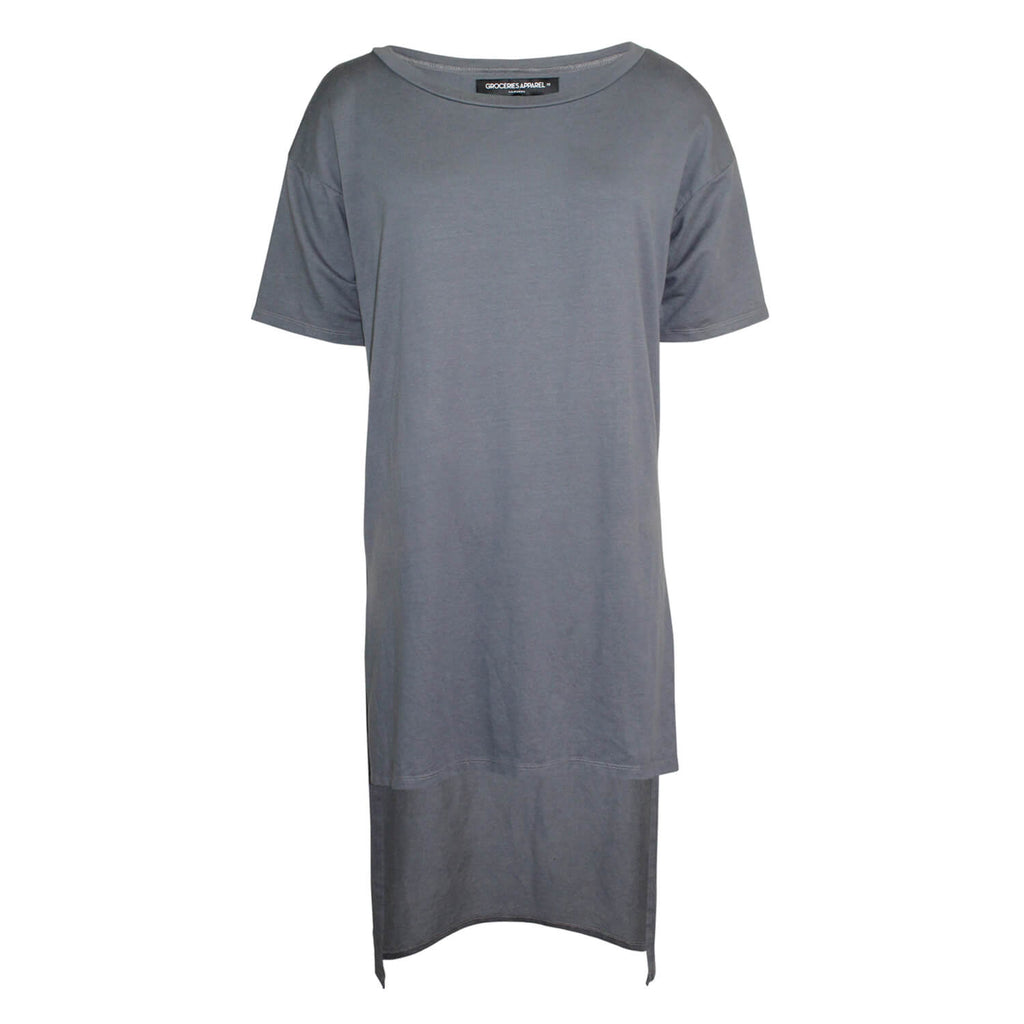 Groceries Apparel Grey High Low Hem Tee Size Extra Small Muse Boutique Outlet | Shop Designer Short Sleeve Tops on Sale | Up to 90% Off Designer Fashion
