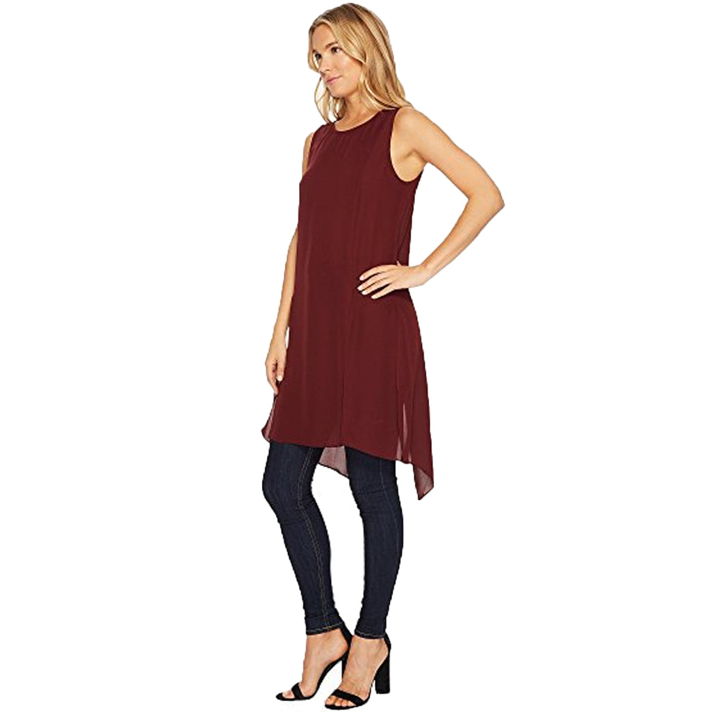 HEATHER  Cybil Silk Split Tunic Size  Muse Boutique Outlet | Shop Designer Sleeveless Tops on Sale | Up to 90% Off Designer Fashion