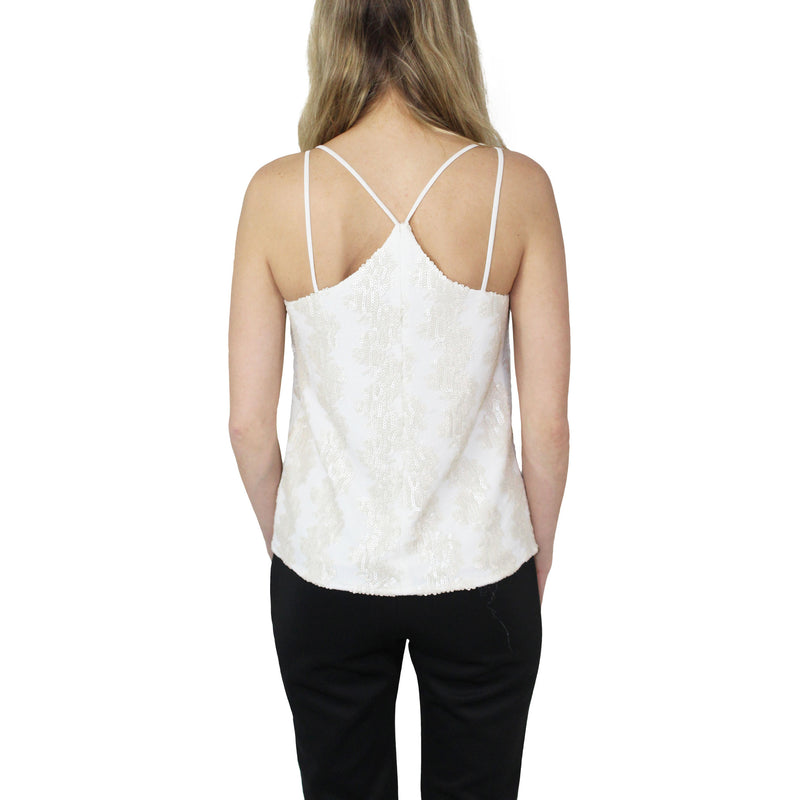 Hunter Bell  Sequin Tank Top Size  Muse Boutique Outlet | Shop Designer Clearance Tops on Sale | Up to 90% Off Designer Fashion