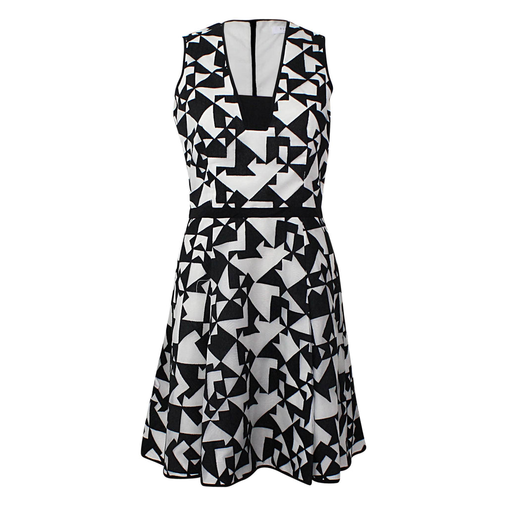 Hunter Bell  Geometric Jacquard Fit & Flare Dress Size  Muse Boutique Outlet | Shop Designer Clearance Dresses on Sale | Up to 90% Off Designer Fashion