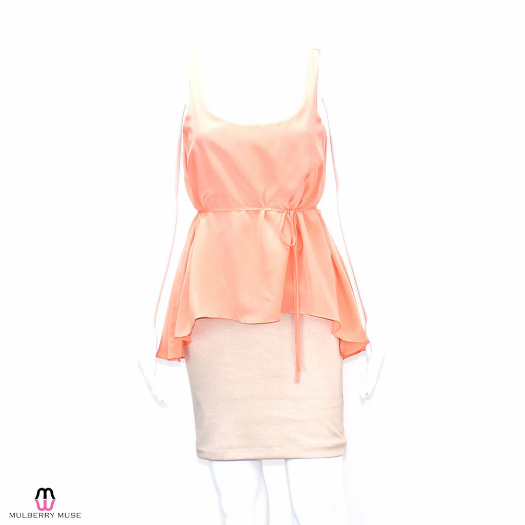 Hutch Peach/Nude Hutch Peplum Dress Size Extra Small Muse Boutique Outlet | Shop Designer Clearance Dresses on Sale | Up to 90% Off Designer Fashion