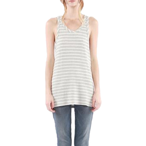 Hye Park and Lune Mia Racerback Tank 1 Grey, White Muse Boutique Outlet