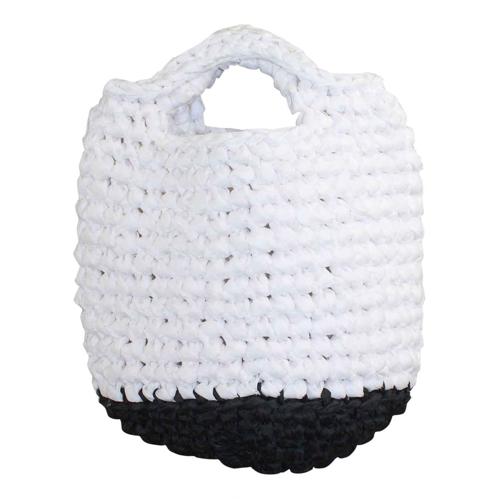 I Love SY by Rania Kinge White/Black Crochet Me Bag Size One size Muse Boutique Outlet | Shop Designer Clearance Accessories on Sale | Up to 90% Off Designer Fashion
