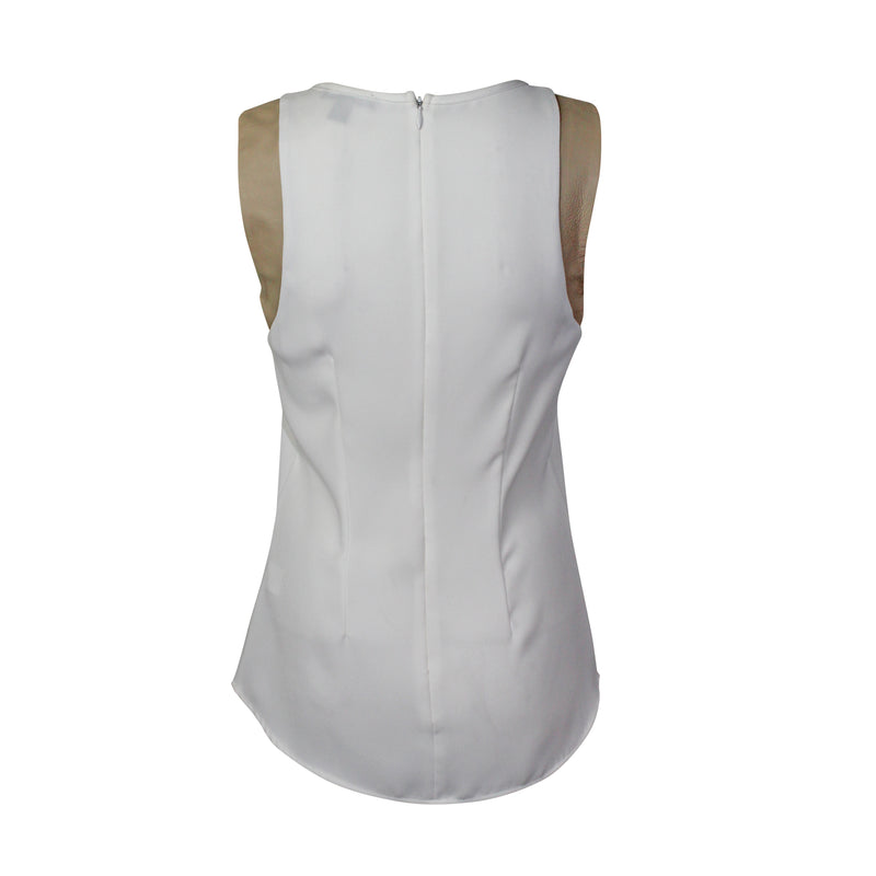 Drew  Leather Trim Tank Top Size  Muse Boutique Outlet | Shop Designer Clearance Tops on Sale | Up to 90% Off Designer Fashion